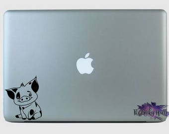 Adorable Pua - Moana - Inspired - Sidekick - Disney - Disney Bound - Laptop - Window - Car - Vinyl - Decal - Sticker