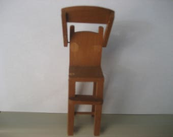 Shackman miniature vintage wooden high chair (as is)