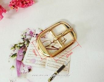 10pcs 1.5cm Light golden Silvery Metal Pin Buckles Strap Adjuster buckle Belt adjustable buckle