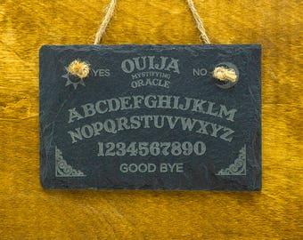 Ouija Board Slate Sign - Ouija Sign - Mini Ouija Board Slate Sign - Ouija Mystifying Oracle Slate Sign - Ouija Engraved Slate Sign
