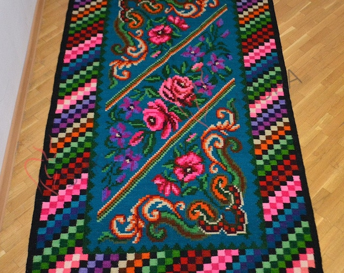 Bessarabian Kilim & area rugs. Tapis vintage moldave,Large rug,oushak rug,persian rug,morrocan rug,tapis boheme,overdyed rug