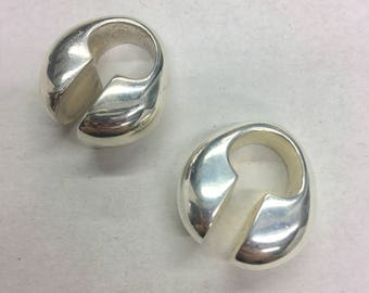 Pair of silver plated earweights