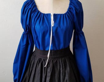 Long Sleeve Wenches Blouse - 100% Cotton - Pirate, Renaissance, Fantasy, Steampunk, Medieval, Faire, Wench, Princess, Fantasy, LARP, Cosplay
