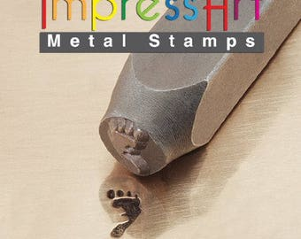 Foot Print Right Design Stamp 9.5mm
