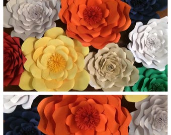Large paper Flowers Set of 9      Special offer