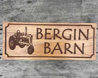 Personalized Sign, Wooden Carved Plaque, Farm Signs, Barn Signs, Rustic Carved Signs Wood,  Hunting Property, Cabin Signs, Outdoor Sign