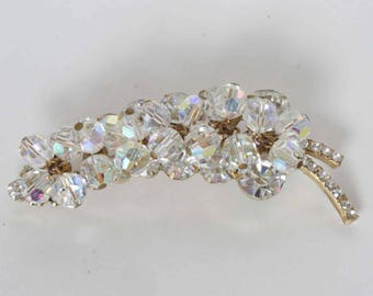 DELIZZA & ELSTER Juliana Verified Crystal Chaton and Bead Brooch