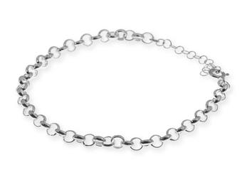 Silver Chain Bracelet, Chain Link Bracelet, Sterling Silver Chain Bracelet, Silver Chain Bracelet Womens, Chain Bracelet, Minimalist Jewelry