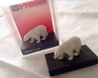 1pc 28x17mm showcase figurine miniature White bear embellishments