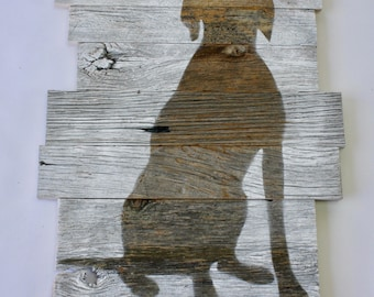 Reclaimed barn wood Dog