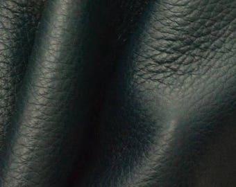 "NZ Deer Sale Dark Ocean Teal Leather New Zealand Deer Hide 12"" x 12"" Pre-cut 2 1/2-3 ounces -14 DE-66121 (Sec. 6,Shelf 6,D)"