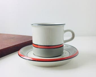 "Vintage Arabia Finland stoneware coffee cup named ""Aslak"" designed by Ulla Procope / Inkeri Leivo, 1990s"