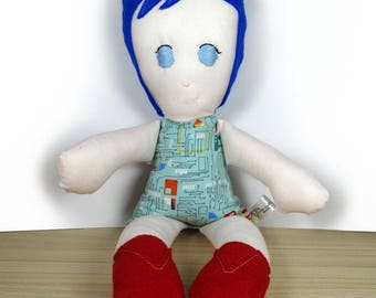 Blue Data Bailey Doll