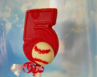 Baseball Number Candy Lollipop Favor-Baseball/Tee Ball /Sports Theme Birthday Parties/Team Events (12)