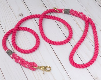 Peony Cotton Rope Dog Leash