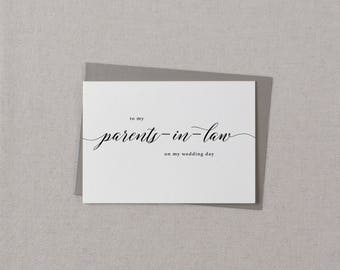 Wedding Card To My Parents-In-Law, To My Parents-In-Law on My Wedding Day, Thank You Wedding Card, To My Parents On My Wedding Day Card, K2