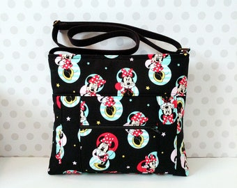 Minnie Mouse Small Crossbody Bag / Black