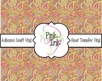 Beautiful Paisley Craft Vinyl and Heat Transfer Vinyl Pattern 427