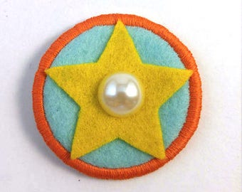 Steven Universe Crystal Gem Pearl Badge Pin Button Patch