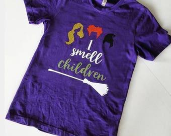 I smell children - hocus pocus - Halloween shirt - glitter vinyl