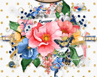 Digital Scrapbook, Elements, Embellishments: Celebrate Our Love