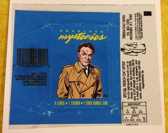 Unsolved Mysteries wax pack print