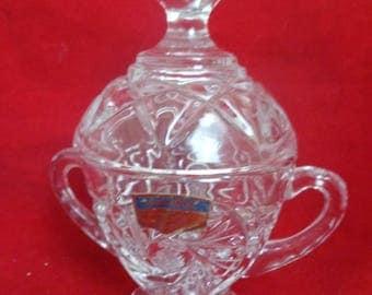 Vintage Polonia Sugar Dish Vintage Polonia Crystal Sugar Dish Vintage Crystal Kitchen Crystal Sugar Bowl Vintage Polonia
