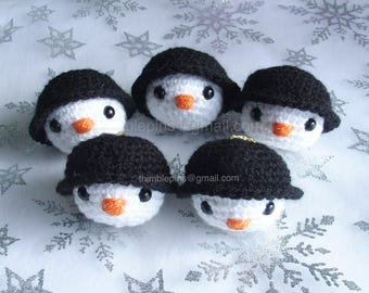 Diddy Snowman Christmas Tree Bauble Decoration