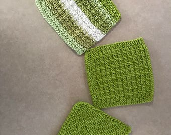 Handmade Knitted Dishcloths