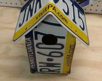 Pennsylvania License Plate Birdhouse, PA Penn.
