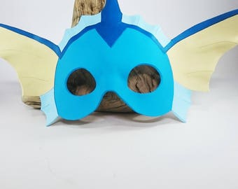 Leather Vaporeon Mask Pokémon Mask Eevee Mask Pokémon Cosplay