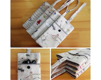 Phone Pouch with wristlet strap, Phone sleeve, Phone case