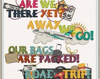 ON SALE NOW 65% off On The Go Travel Word Art