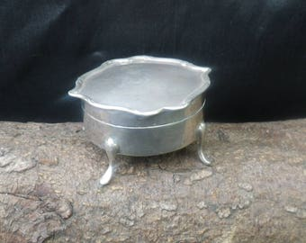 Antique Sterling Silver Trinket Box