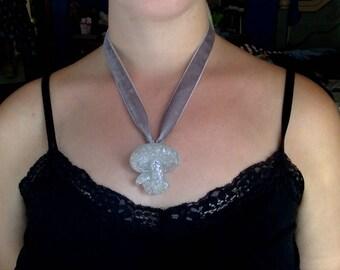 Glitter Mushroom Velvet Necklace