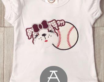 Baseball Bulldog | MS State Baseball | Appliqué