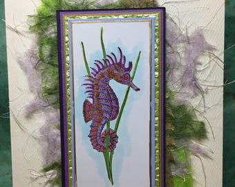 Purple & Orange Sea Horse