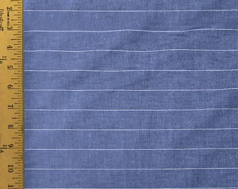 Blue  and  White - Striped - 100% Cotton - 44 Wide