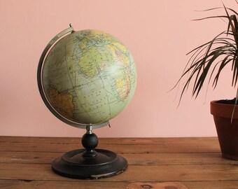 Vintage Antique Philip's 9 inch Terrestrial Globe