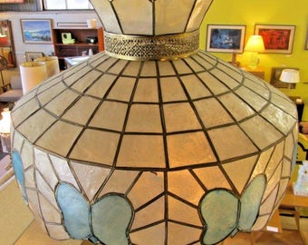 Capiz Shell Chandelier Vintage