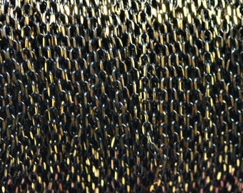 Brass chain 2.7x1.5mm two-tone black and gold