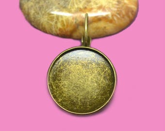 20 20mm cabochon 20mm bronze Stud Earrings