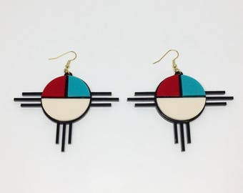 Southwestern Style Acrylic Earrings