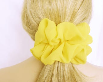 Big Yellow Scrunchie  - Boutique Style Accessories - Designer Scrunchies - Gifts for Her