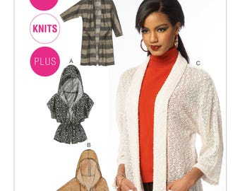 McCalls' M6802 Misses'/Women's Hooded or Shawl Collar Cardigans