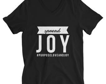 Spread Joy Short Sleeve V-Neck T-Shirt