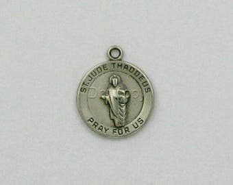Sterling Silver St. Jude Medal Charm
