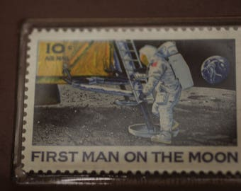 First Man On The Moon Memorial 10 Cent Airmail Stamp (Uncirculated)