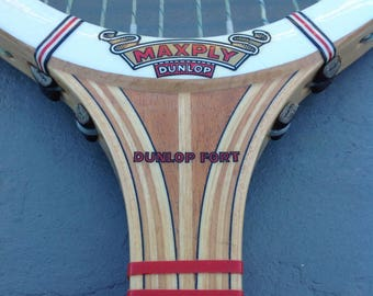 Tennis Racket  Vintage Dunlop Max Ply Wood Tennis Racket