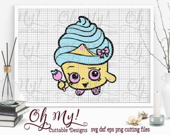 Cupcake Shopkins Svg Eps Dxf Png Cutting Files